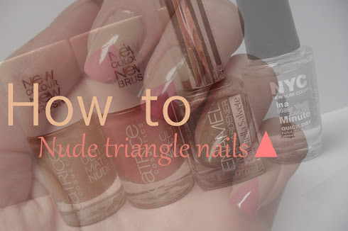 How to: Nude triangle nails
