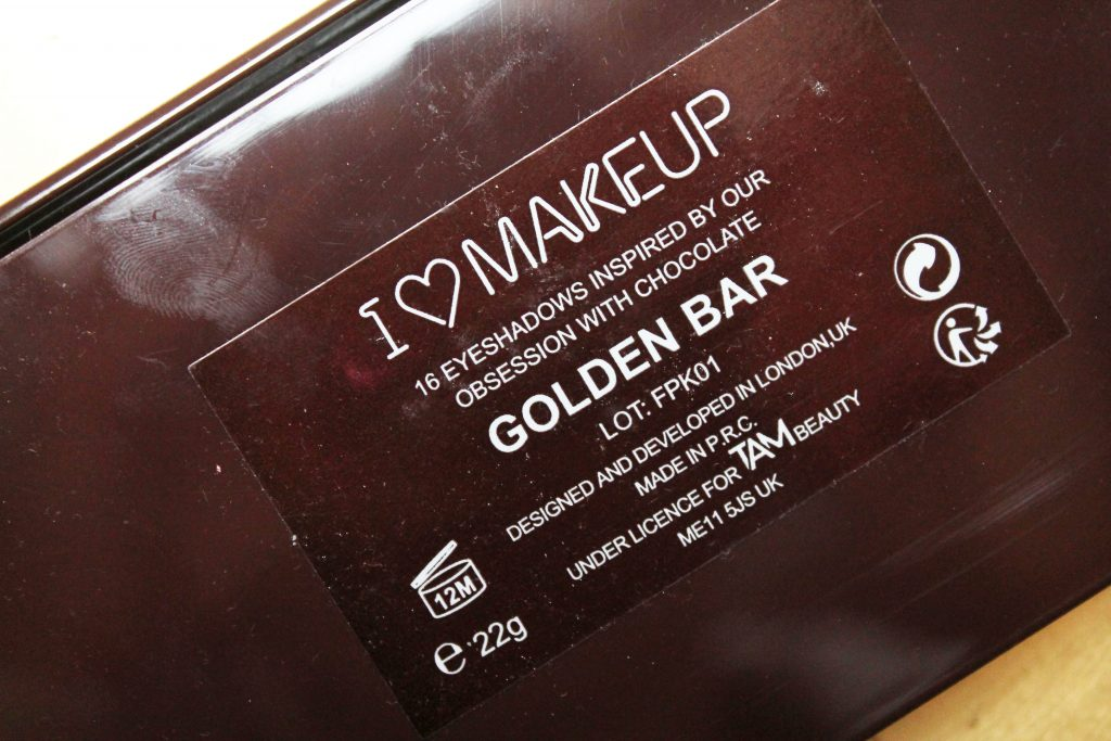 i heart makeup golden bar