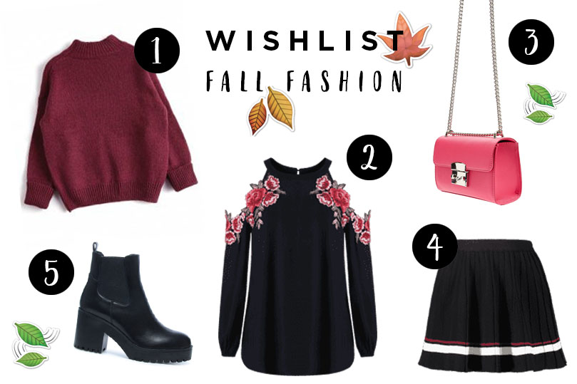 FALL FASHION WISHLIST | SWEATERS EN FUCHSIA CLUTCH!