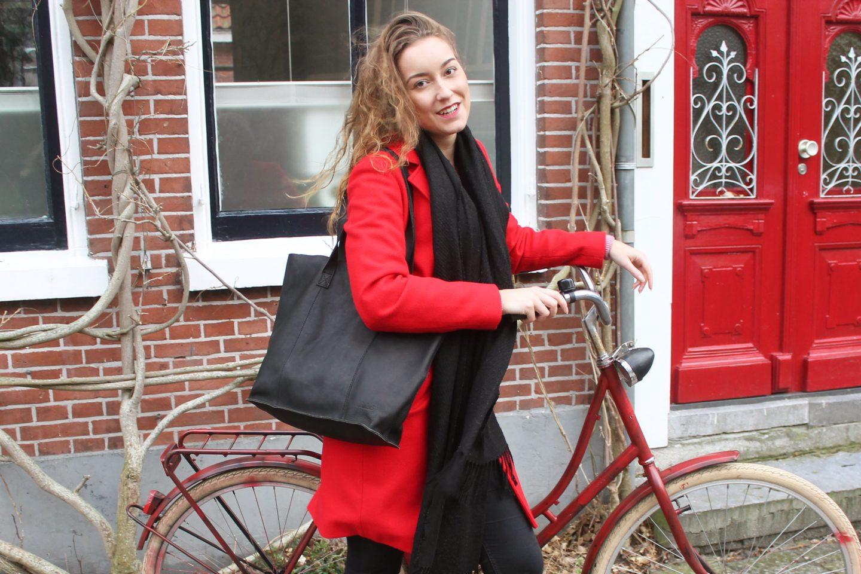 Mijn nieuwe zwarte Chabo bag die bij elke outfit past!