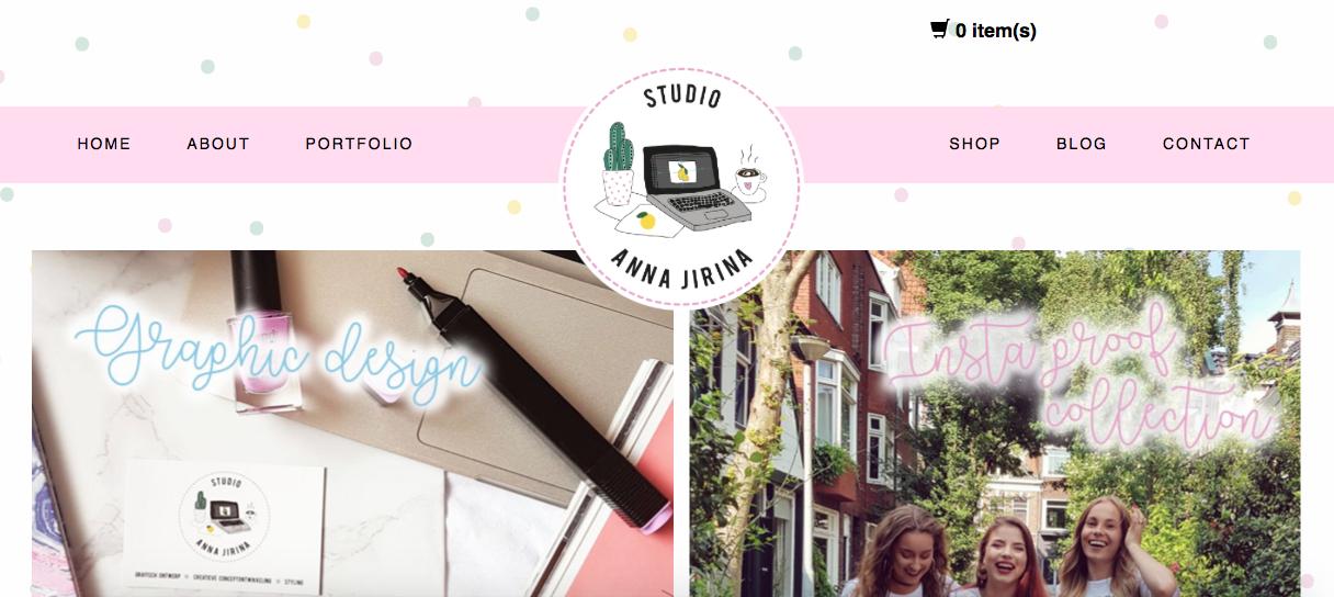 Mijn website en webshop Studioannajirina.nl is live!