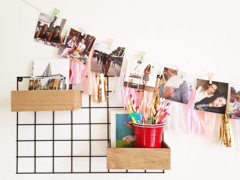 Interieur DIY | Eenvoudig een vrolijke fotoslinger maken!