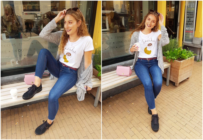 Outfit   Studio Anna Jirina t-shirt en nieuwe Puma sneakers!
