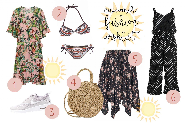 Nazomer fashion wishlist | Vrolijke bikini, jumpsuit en Nikes!