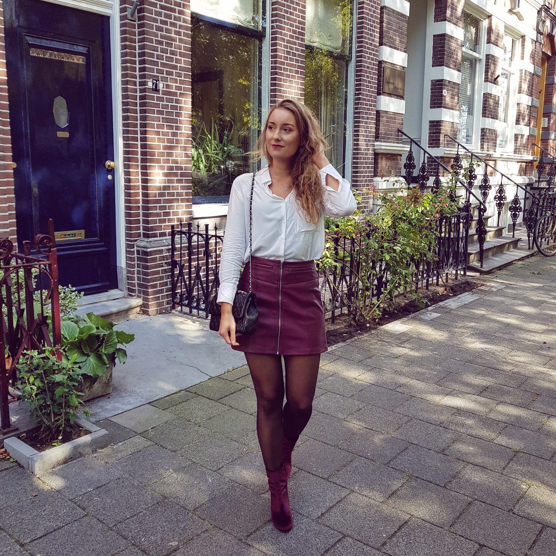Outfit | Favoriete herfstkleur en eindelijk weer een panty aan!