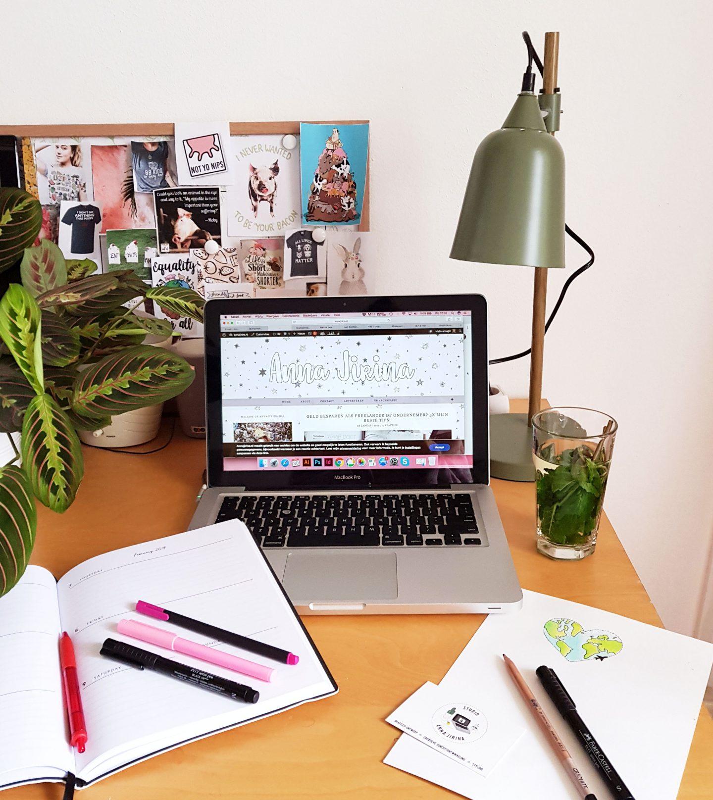 5 Tips voor een fijne en inspirerende (thuis)werkplek